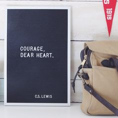 C.S. Lewis quote on letter board #letterboard