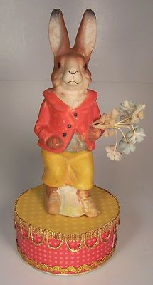 Wonderful Vintage 8 inch Rabbit Candy Container