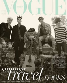 Big Bang Does Bohemian Grunge Style for Vogue Korea July 2015 Covers
