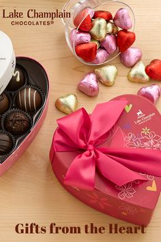 Give the gift of love proven to delight every time — Valentine chocolates nestled in heart-shaped boxes. Valentine Chocolate, Chocolate Hearts, Love Valentines, Heart Shaped Chocolate Box, Truffles, Chocolates, Heart Shapes, Boxes, Sweet