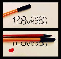 I love you! Math equation
