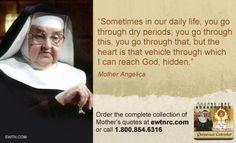 #WednesdayWisdom #MotherAngelica #Catholic #EWTN