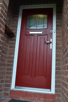 Rockdoor Newark are very popular. Rockdoors are the only composite door manufacturer to make a door so suited to the Fitted from Entrance Doors, Front Doors, Garage Doors, Red Doors, Make A Door, Side Extension, 1930s Style, 1930s House, Composite Door
