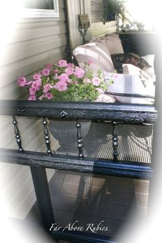 Repurposing A Screen Door As A Porch Divider