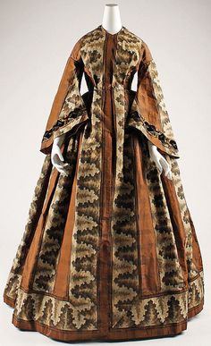 Dress Date: ca. 1850 Culture: American Medium: silk, linen, cotton Accession Number: C.I.55.54.3 The Metropolitan Museum of Art