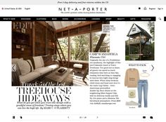 Net à Porter magazine layout
