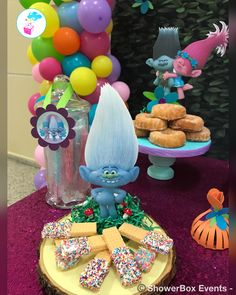 Trolls Birthday 🌈💖 ShowerBox Events 2018 For more photos visit our FB page👍 www.myshowerbox.com SC👻 ShowerBox Designs #myshowerbox #trollsbirthdayparty #trollsbirthday #trolls #secondbirthday #birthdaydecor #birthdaydecoration Birthday Party At Park, Trolls Birthday Party, Party Favors For Kids Birthday, Troll Party, Baby 1st Birthday, First Birthday Parties, Birthday Ideas, 1st Birthday Decorations, My Little Pony Party