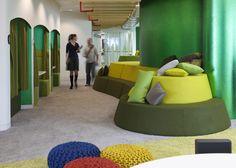 儿童区域 Home Trends trend home security Colorful Interior Design, Office Interior Design, Office Interiors, Colorful Interiors, Fun Office Design, School Design, Google Office, Design Thinking, Commercial Office Design