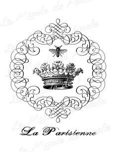 La Parisienne crown bee queen royal vintage romantic от JLeeloo2