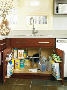 The Sink Base Super Cabinet provides easy storage solutions for all of your products. By Thomasville Cabinetry.