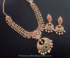 One Gram Gold Necklace Designs, 1 Gram Gold Necklace Designs, One Gram Gold Stone Necklace Sets