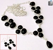 A classy and fabulous expression of black onyx in a splendid designer silver necklace and earrings..!!  #silverjewelry  #jewelry  #jewelryset  #jewelexi  #earrings  #necklace