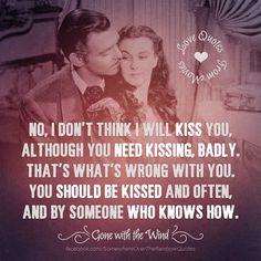 "Clark Gable as Rhett Butler and Vivien Leigh as Scarlett O'Hara, ""Gone With the Wind"" (1939)"