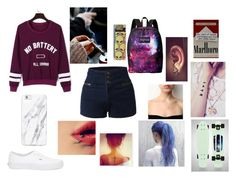 """""""Untitled #91"""" by werewolflover90 ❤ liked on Polyvore featuring LE3NO, WithChic, Vans and JanSport"""