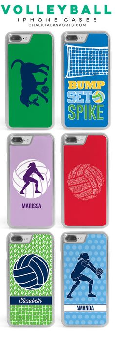 Know a volleyball player that would love one of these iPhone cases? They're available in several different colors and patterns, including personalized and custom options, so we're sure you'll find one to fit any style!