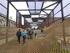 Brazil's porous World Expo pavilion erases boundaries with net...