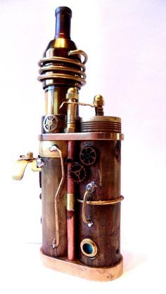 Steampunk. I'm so in love. Two of my favorite things! One more one for the board - www.truev.co.uk, vg e liquids