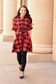 I'm all about plaid this fall! This dress is so cute and you can pair it with tights or leggings on those chilly days! Get it for $39!