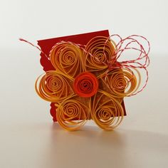 Quilling flower - breast pin