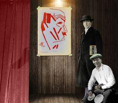"""Berlin, 12 de mayo de 1915 Hugo Ball y Richard Huelsenbeck organizan veladas expresionistas los primeros meses de 1915, hacía seis meses que había empezado la Gran Guerra. El 12 de febrero distribuyeron el manifiesto futurista de Marinetti , y 12 de mayo organizaron una velada en solidaridad con el fundador del futurismo italiano. Marinetti ya afirmaba en 1909 que la guerra era """"la única higiene del mundo"""" (libro que Ball lleva bajo el brazo), aunque también decía """"Abajo Parsifal y el…"""