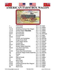 """American Horse Drawn Box Wagon"" booklet Index."