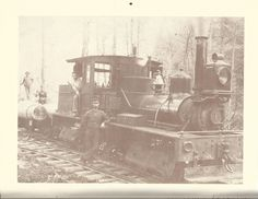 Logging crew and train, A.Cook Sons Lumber Company, Millcreek, ca. 1908 from 1994 Clarion County Historical Calendar.  EFTforChristians.com