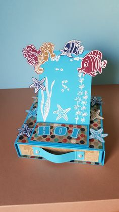 Easel card with drawer. Stamp craft sensations (Action)