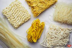 Let's take a look at different types of noodles used in Chinese cooking. Chicken Vermicelli, Vermicelli Recipes, Vermicelli Noodles, Fun Noodles, Types Of Noodles, Asian Noodles, Healthy Chinese, Chinese Food, Asian Recipes