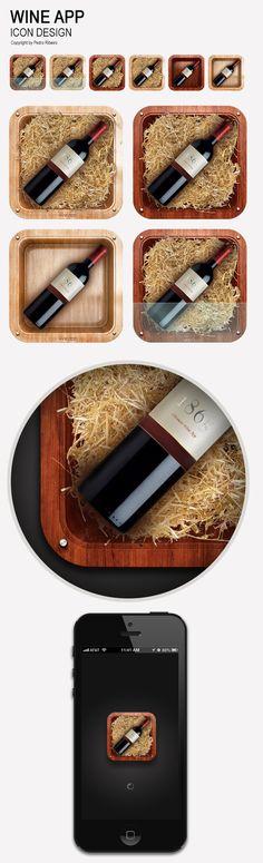 Wine app icon by Pedro Ribeiro, via Behance