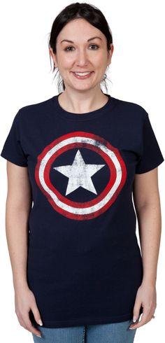 Ladies Captain America Shirt