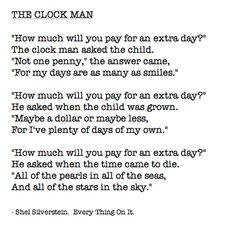 The Clock Man by Shel Silverstein
