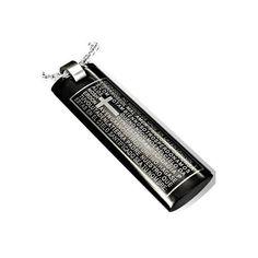 """Edelstahlanhänger """"Prayer""""      Farbe schwarz mit Augschrift    *Der Preis bezieht sich auf den Anhänger alleine.*     Sie erhalten Gratis dazu:    Le"""