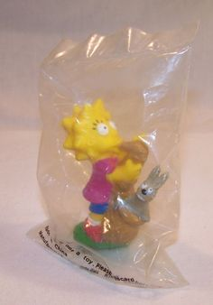 The SIMPSONS Burger King Toy - Lisa Simpson Figure - Collectible Giveaway 1990  #BurgerKing #vintagephilly