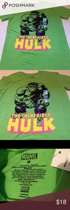 The Incredible Hulk shirt Colored green/black/ size medium/good condition Marvel Shirts Tees - Short Sleeve