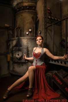 Steampunk girls with nice curves and other Divas by Esaikha