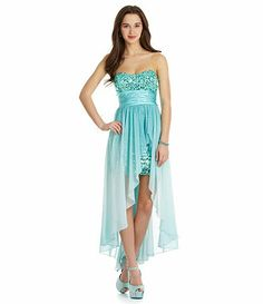 d4db67f2766 Xtraordinary Sequin Ombre Hi-Low Dress. Lorna Moorhead · Dillards prom  dresses