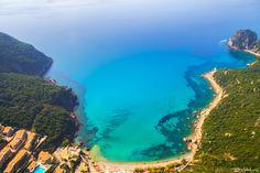 Ermones beach from above, Vatos Corfu by Bill Metallinos on 500px