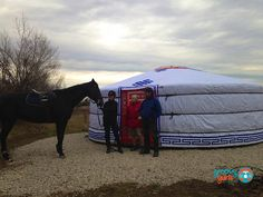 Horseback riding center with a yurt to warm yourself up