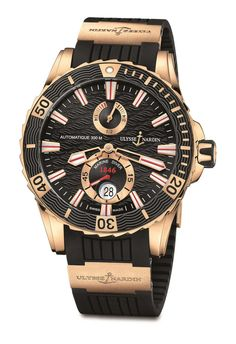 Ulysse Nardin Gold Highlights Marine Diver