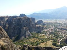 Meteora Greece view from one of the monasteries.