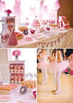 Fiesta de cumpleaños de bailarinas de ballet