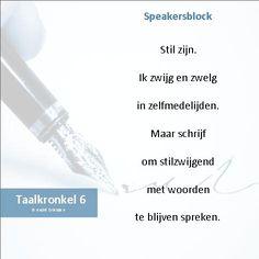 Taalkronkel 6 - Speakersblock