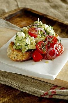 Smashed avocado and feta on toast