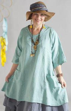 Linen Lita Tunic UnPrinted : Blue Fish Clothing