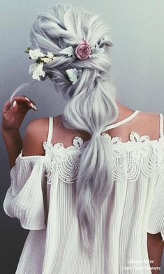 Ulyana Aster Long Bridal Hairstyles for Wedding frisuren haare hair hair long hair short Romantic Bridal Updos, Long Bridal Hair, Hair Wedding, Pretty Hairstyles, Wedding Hairstyles, Simple Prom Hairstyles, Hairstyle Ideas, Fairy Hairstyles, Boho Hairstyles
