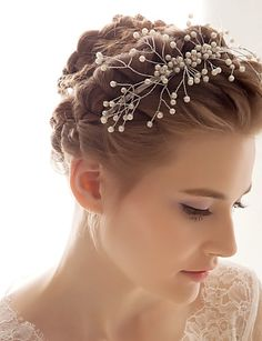 Alloy With Imitation Pearl Wedding/Special Occasion Headband - USD $ 14.99