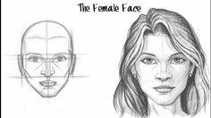 Cómo dibujar una cara femenina - #Drawing #tutorial