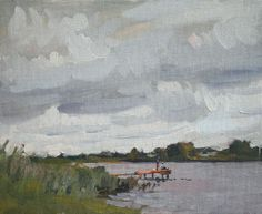 """Cloudy Day, oil on canvas on board, 24 x 30 cm, (9"""" x 12"""")"""