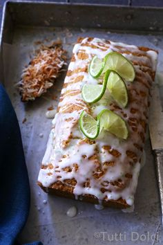 toasted coconut and lime bread