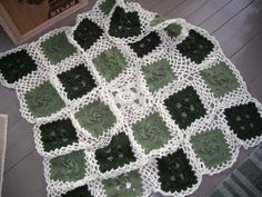 green and white blanket